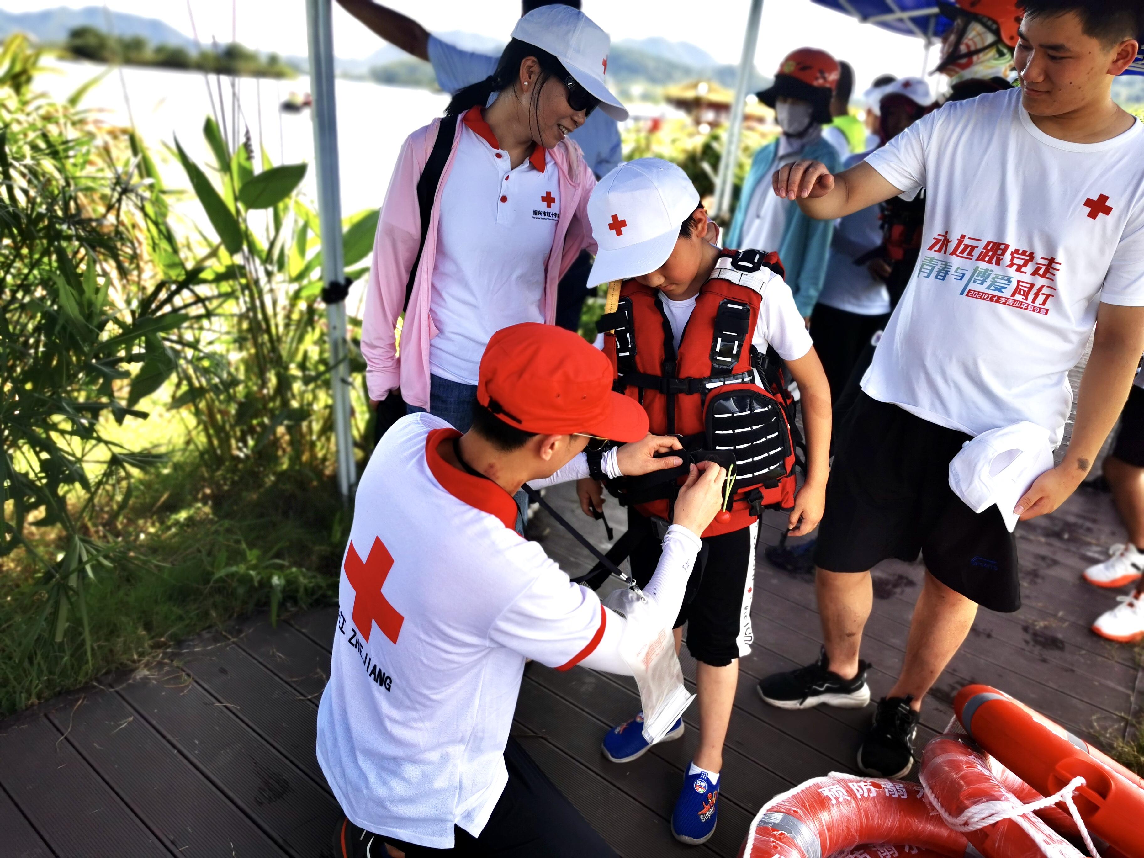 暑期防溺水,红十字在行动